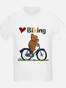 Love Biking Blue Bike T-Shirt