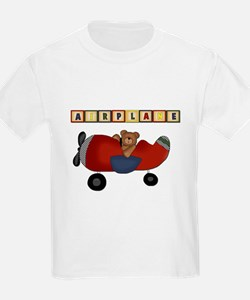 Red Airplane with Bear T-Shirt