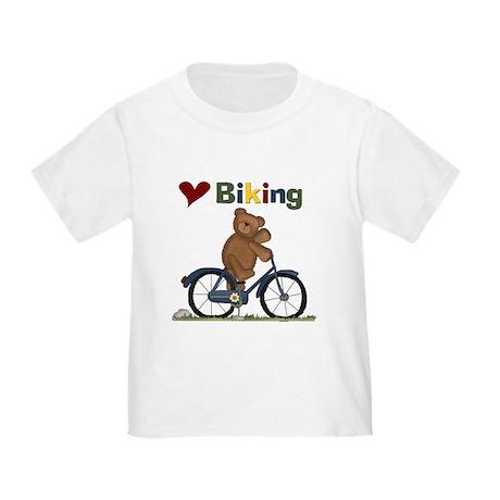 Love Biking Blue Bike Toddler T-Shirt