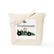 Green Racing Car Tote Bag