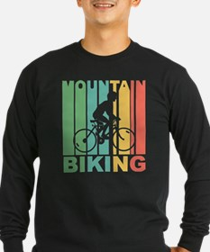 Vintage Mountain Biking Graph Long Sleeve T-Shirt