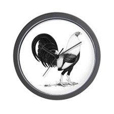 Grey American Gamecock Wall Clock