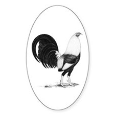 Grey American Gamecock Decal