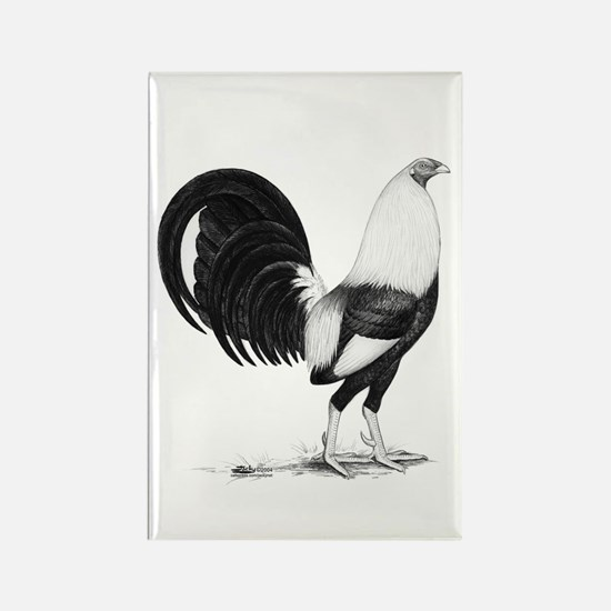 Grey American Gamecock Rectangle Magnet