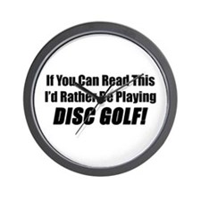 Playing Disc Golf Wall Clock