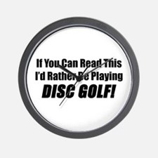 Playing Disc Golf Wall Clock