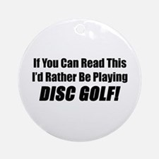 Playing Disc Golf Ornament (Round)