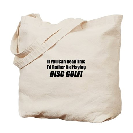 Playing Disc Golf Tote Bag