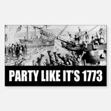 1773 Tea Party Rectangle Decal