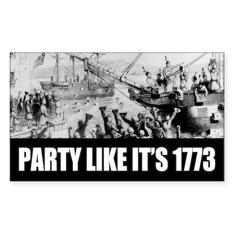 1773 Tea Party Rectangle Sticker
