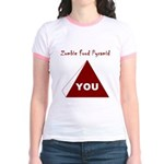 Zombie Food Pyramid Jr. Ringer T-Shirt