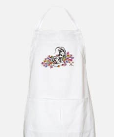 NH Pup In Flowers BBQ Apron