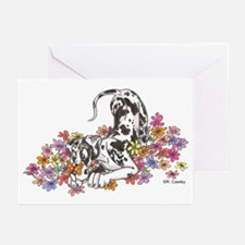 NH Pup In Flowers Greeting Cards (Pk of 20)