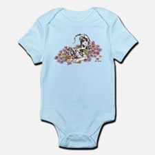 NH Pup In Flowers Infant Bodysuit