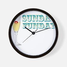 SUNDAY FUNDAY Wall Clock