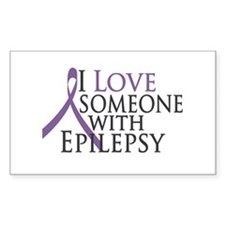 Love Someone with Epilepsy Rectangle Decal