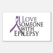 Love Someone with Epilepsy Rectangle Sticker 10 p