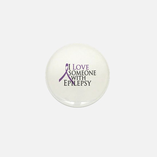 Love Someone with Epilepsy Mini Button (10 pack)