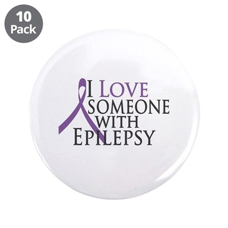 "Love Someone with Epilepsy 3.5"" Button (10 pack)"
