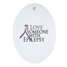 Love Someone with Epilepsy Oval Ornament