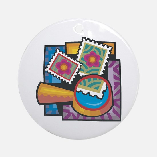Stamp Collector Ornament (Round)