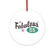 Fabulous 55 Ornament (Round)