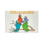 Four Calling Birds Rectangle Magnet (100 pack)