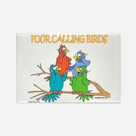 Four Calling Birds Rectangle Magnet