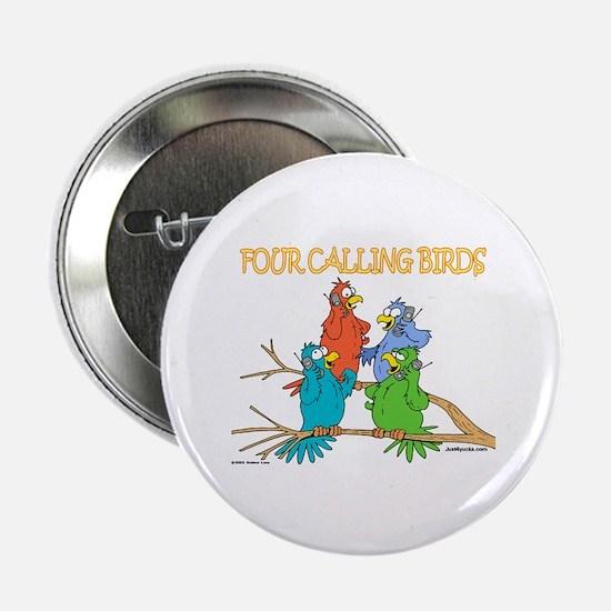 Four Calling Birds Button
