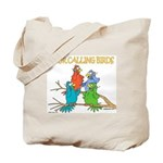 Four Calling Birds Tote Bag