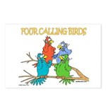 Four Calling Birds Postcards (Package of 8)