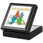 Four Calling Birds Keepsake Box
