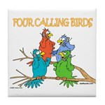 Four Calling Birds Tile Coaster
