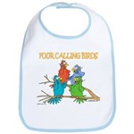 Four Calling Birds Bib