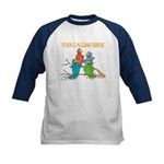 Four Calling Birds Kids Baseball Jersey