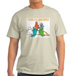 Four Calling Birds Ash Grey T-Shirt