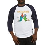 Four Calling Birds Baseball Jersey