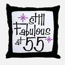 Still Fabulous at 55 Throw Pillow