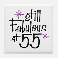Still Fabulous at 55 Tile Coaster