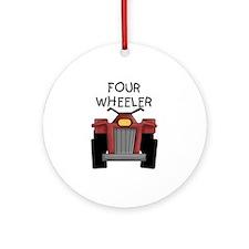 Four Wheeler Ornament (Round)