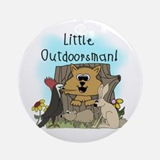 Little Outdoorsman Ornament (Round)
