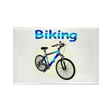 Biking Rectangle Magnet (100 pack)
