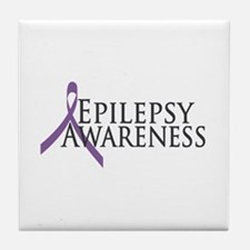 Epilepsy Awareness Ribbon Tile Coaster