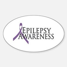 Epilepsy Awareness Ribbon Oval Decal