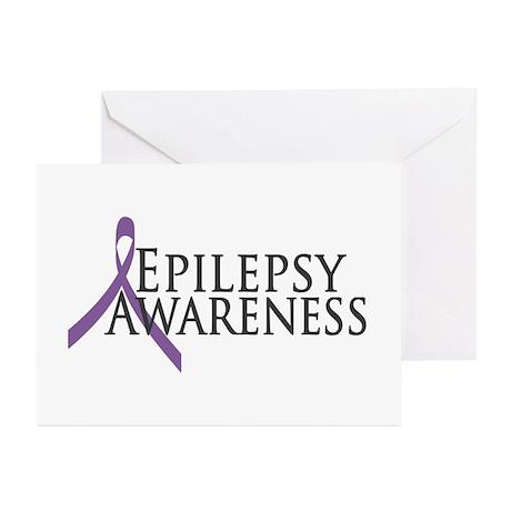 Epilepsy Awareness Ribbon Greeting Cards (Pk of 20
