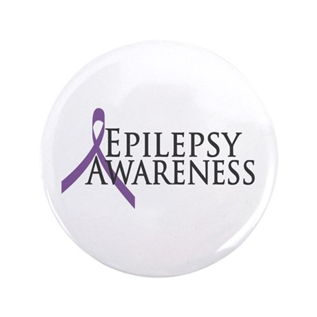 "Epilepsy Awareness Ribbon 3.5"" Button (100 pack)"