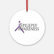Epilepsy Awareness Ribbon Ornament (Round)