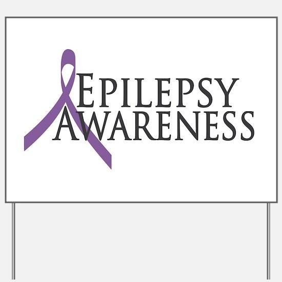 Epilepsy Awareness Ribbon Yard Sign
