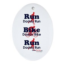 Duathlon Dad Oval Ornament