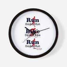 Duathlon Dad Wall Clock